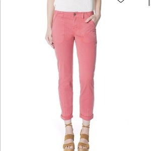 Sanctuary Relaxed Traveler Pant in Coral